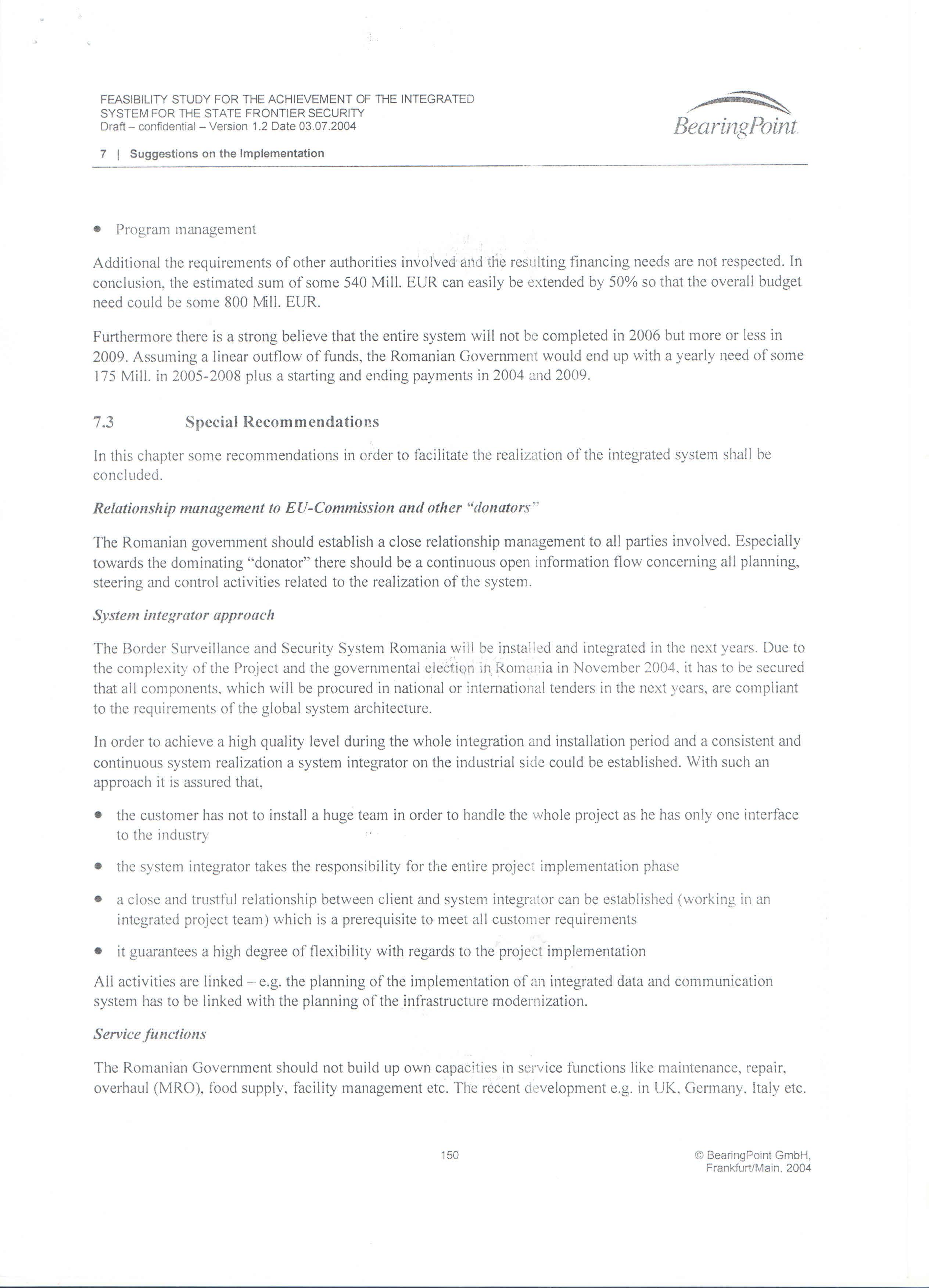 Pagina 150 - Studiu BEARING POINT