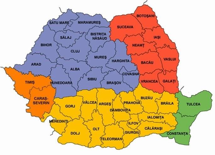 Harta Romaniei pe judete
