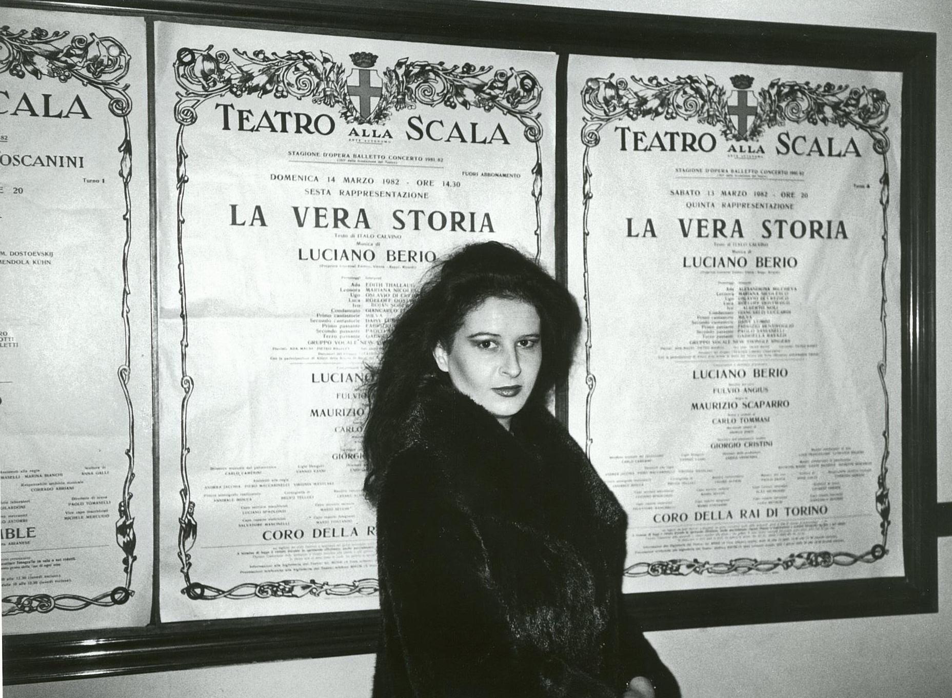 Debutul la Teatrul alla Scala din Milano în premiera mondială a operei.La Vera Storia de Luciano Berio