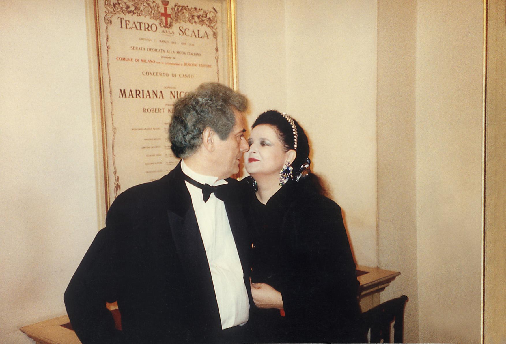 Cu Radu, la primul meu Recital de Canto la Teatrul alla Scala din Milano