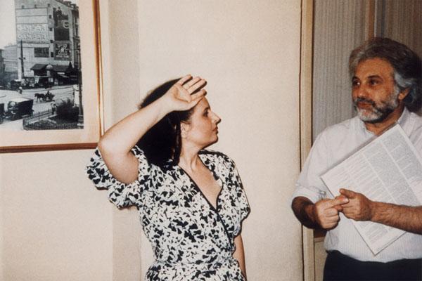 Mariana Nicolesco şi Luca Ronconi, regizorul spectacolelor L'Orfeo de Luigi Rossi şi Fetonte de Niccolò Jommelli, ce au marcat renaşterea barocului italianla Teatrul alla Scala din Milano