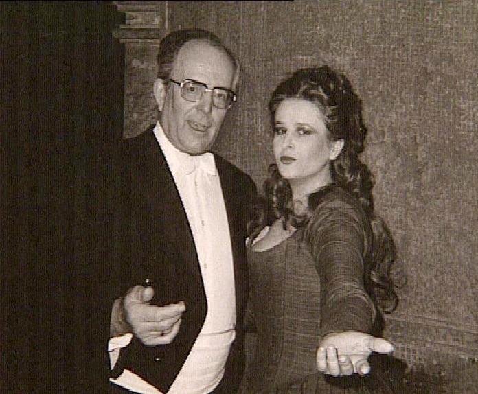 Maestrul Wolfgang Sawallisch şi Mariana Nicolesco:- Raţiunea de a fi a Donnei Elvira? – Iubirea!