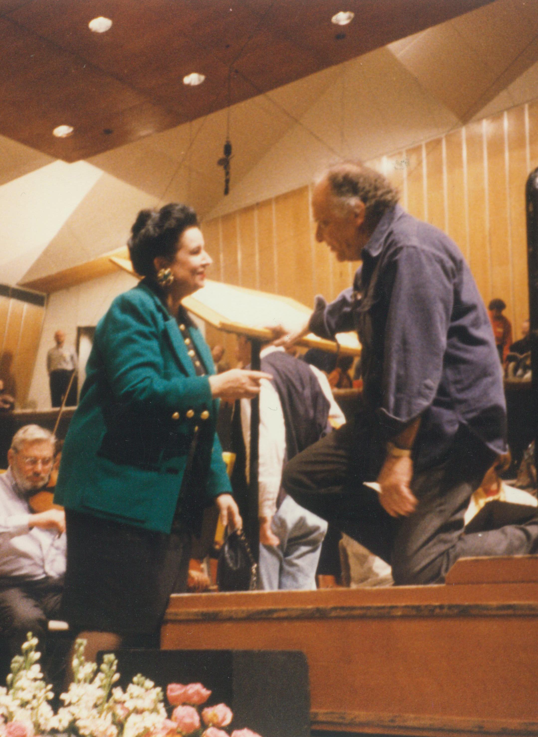 Cu Lorin Maazel la repetiţia generală pentru premiera mondială cu Seven Gates of Jerusalem