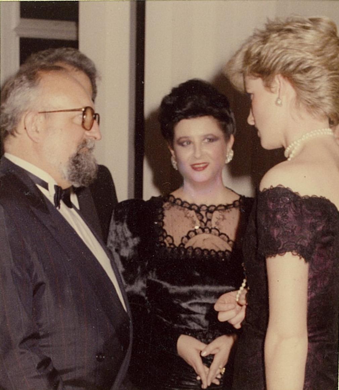 Royal Festival Hall, Londra: Prinţesa Diana, Mariana Nicolesco, Krzysztof Penderecki,al cărui Requiem Polonez celebra memoria legendarului pianist Arthur Rubinstein