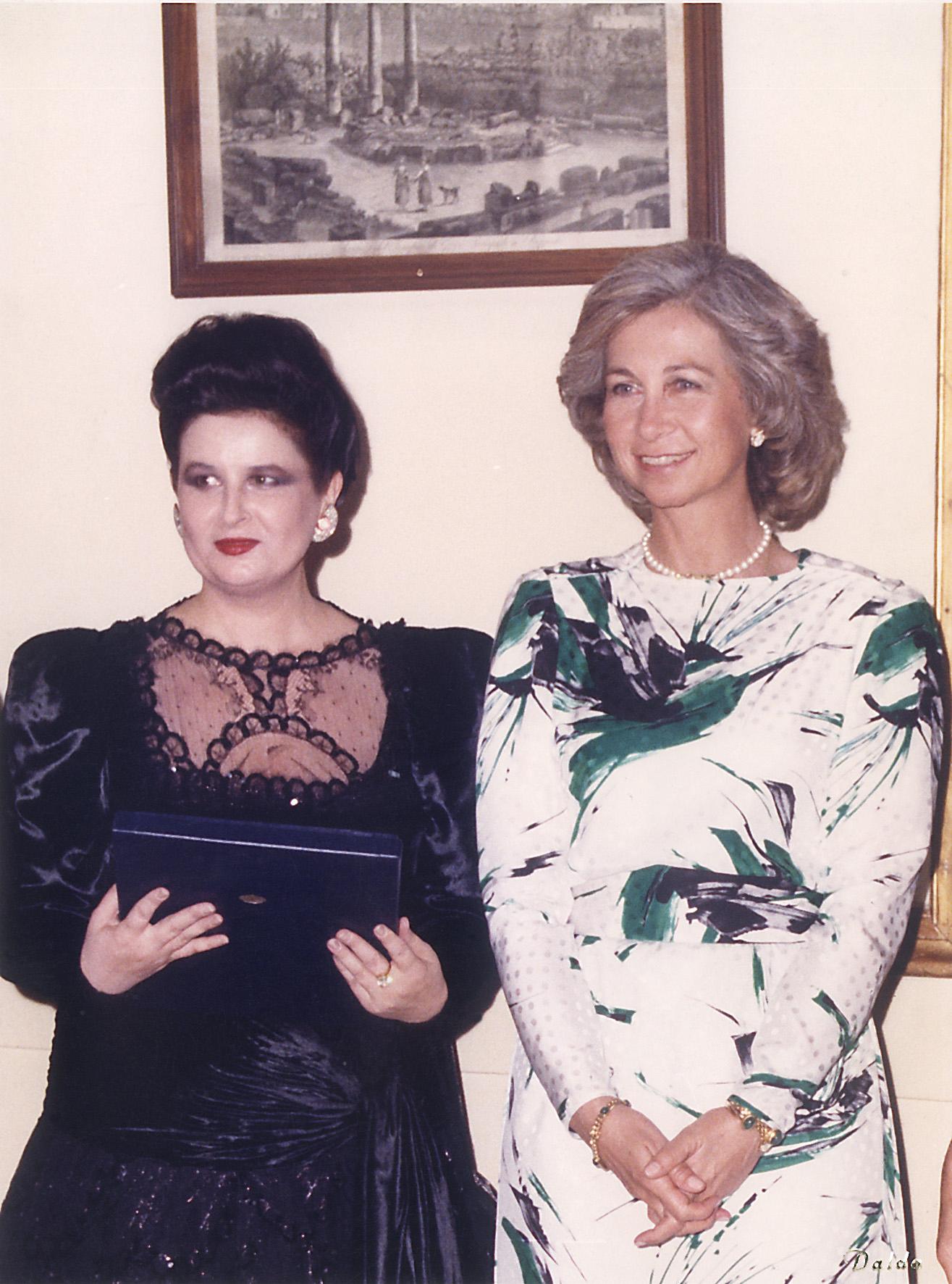 Invitată a Majestăţii Sale Regina Sofia a Spaniei. Palacio Real, Madrid