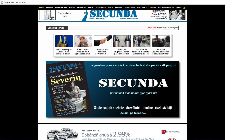 2 iunie 2016 SECUNDA primul numar print
