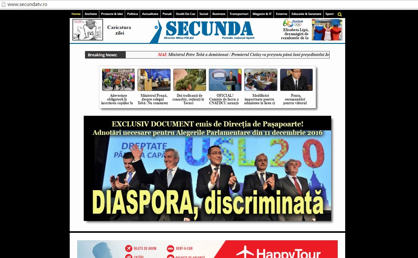 3 septembrie 2016 Diaspora discriminata exclusiv documente DGP