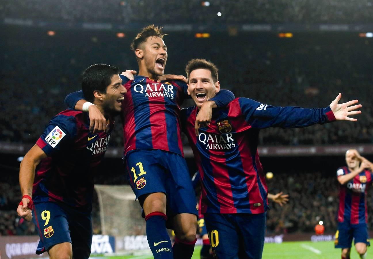 fotbal Suarez Neymar si Messi