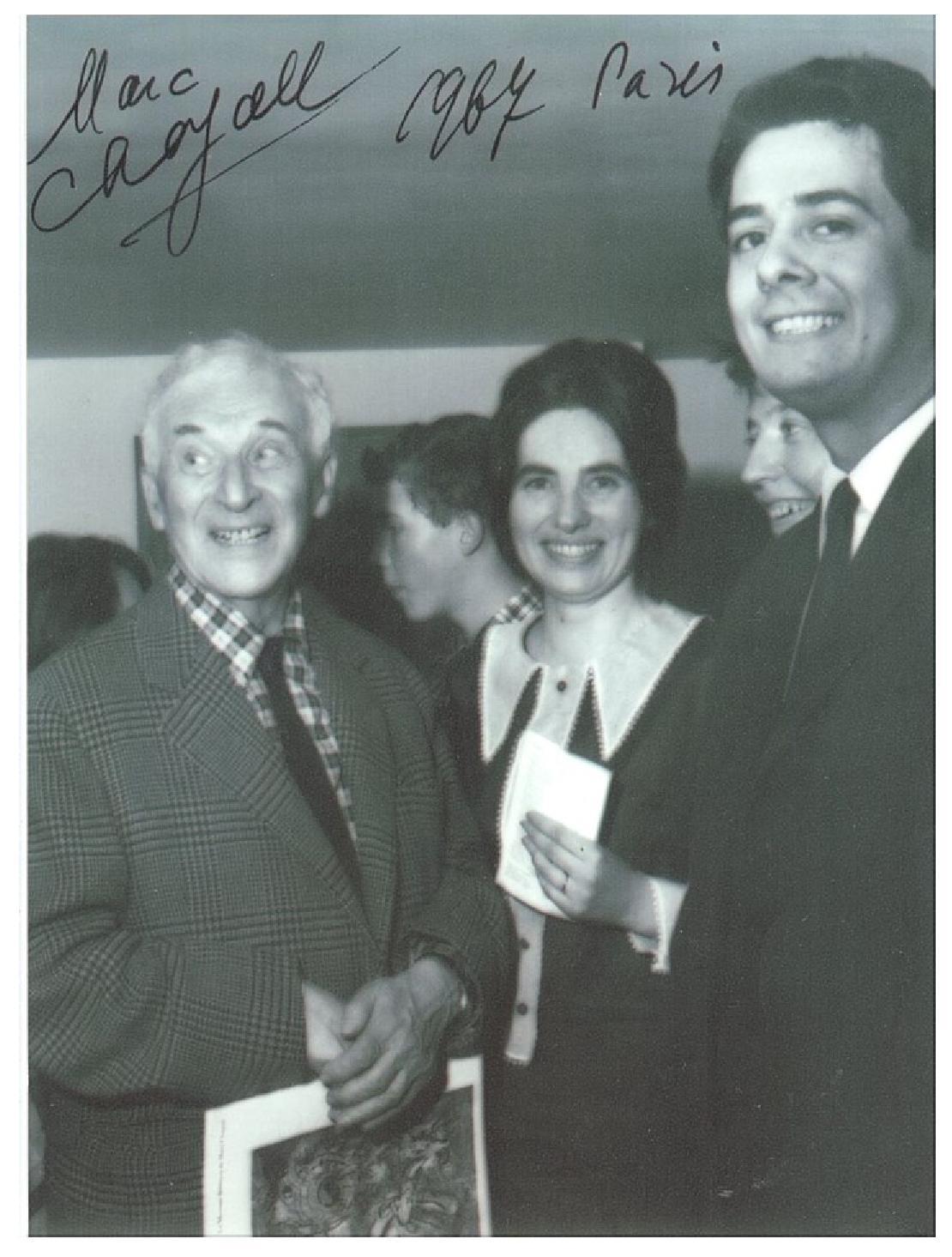 Cu Marc Chagall, la Paris, în ziua în care împlinea 80 de ani