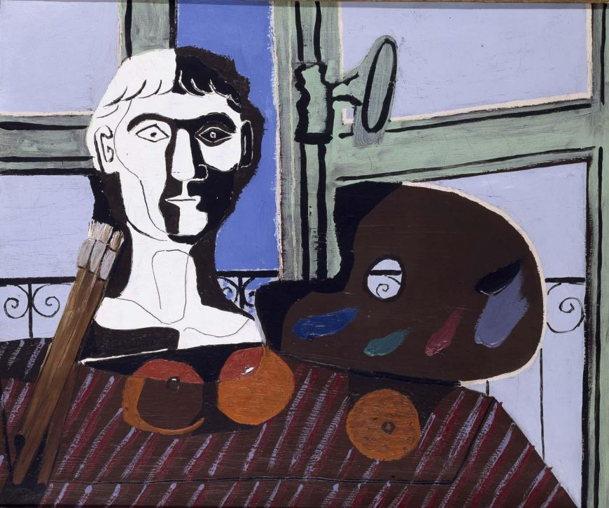 Pablo Picasso - Bust si paleta pictorului